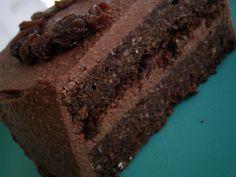 "Chocolate ""Fridge-Scraping"" Birthday Cake (vegan, gf) -- Fridge Scrapings"