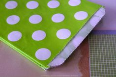 "These are cute big lime green polka dots pattern treat / favor bags. They measure 5"" x 7 "" and they are flat ( no gusset ).Pack of 24(does not include straw/flag - just the bags!!) $6.00"