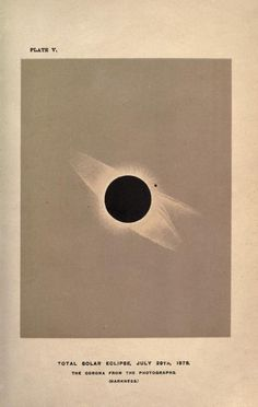 Total solar eclipse, July 29th, 1878