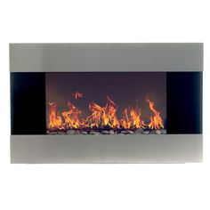 Features:  -Remote control settings includes an on/off switch, 2 heat settings and adjustable flame brightness.  -Includes fireplace, remote control, mounting hardware, and  power cord.  -Heat comes f
