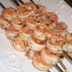 This makes the best shrimp! Remove from skewers and serve on a bed of pasta with sauce for a great meal.
