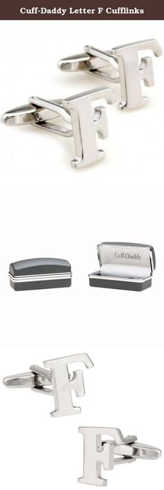 Cuff-Daddy Letter F Cufflinks. Nothing is more personalized than initial cufflinks. We carry all letters of the alphabet, but these are for a pair of letter A cufflinks. A perfect set if you'd like to highlight your last name. If you'd like 2 different letters, we are happy to oblige, afterall we're Cuff-Daddy. (Just search for product CD-1792 and add your choice of initials in the comments field when checking out.)These arrive in a nice gift box and make a thoughtful present for anyone.