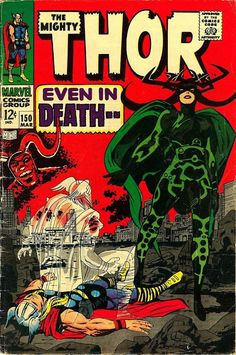 Thor #150 (Mar '68) cover by Jack Kirby & Vince Colletta