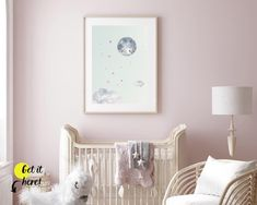 Nursery ideas from Sunny and Pretty. Moon and stars nursery decor print for a perfect celestial nursery. Nursery art and nursery prints to complete your nursery decor project. Our nursery wall art is made with love and is designed to reflect your nursery wall decor style. 🖤 Get excited about decorating for your little one! #sunnyandpretty Clouds Nursery, Moon Nursery, Nursery Wall Decor, Nursery Art, Nursery Prints, Nursery Ideas, Star Themed Nursery, Art Wall Kids, Wall Art