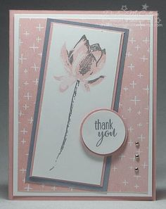 http://dreamingaboutrubberstamps.com - A Silvery Lotus Blossom - love this stamp set from Stampin' Up! especially with the silver. Receive this stamp set or your choice of other products free during Sale-a-bration