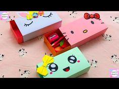Paper Crafts For Kids, Diy Paper, Diy For Kids, Diy Crafts, Diy Card Box, Diy Box, Origami Box Tutorial, Art N Craft, Pencil Boxes