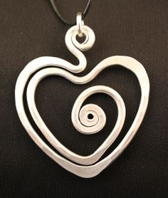 Heartwood Gifts - The Artist Jay - Funky Spiral Heart Pendant - Large, $29.95 (http://www.heartwoodgifts.com/the-artist-jay-funky-spiral-heart-pendant-large/)