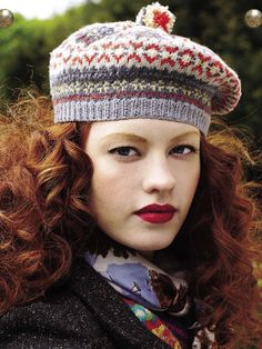 Scottish and colorful, like this hat! The pattern is available in the first US edition of Made By Me Magazine. Buy it in iTunes or on Zinio.com.