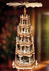 German candle pyramid - someday I wish to own one Christmas In America, Christmas In Germany, Christmas China, Christmas Candle, All Things Christmas, Christmas Holidays, Christmas Decorations, German Christmas Pyramid, Christmas Inspiration