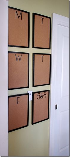 You could just put the corkboards in dollar store frames without the glass!! No painting needed.