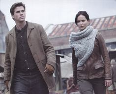 Gale and Katniss in the the 2014 Catching Fire Calendar (@My Hunger Games )