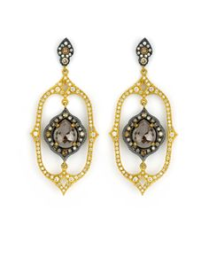 The Suneera Calla Earrings are stunning! They are made here in LA with 18K Gold, Blackened Silver & Diamonds!