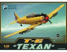 The Kitty Hawk North-American T-6 Texan in 1/32 scale from the Kitty Hawk plastic aircraft model kits range accurately recreates the real life US built training aircraft.