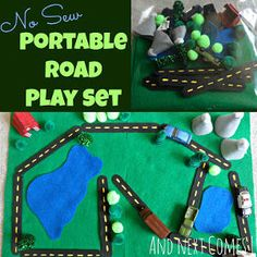 The No-Sew Portable Road Playset can be taken anywhere!