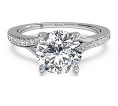 Modern Engagement Rings | Modern Bypass Micropave Diamond Band Engagement Ring | Golden Nugget ...