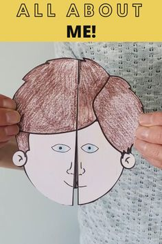 Get to know your pupils with this all about me foldable craft. There are 9 templates so children can pick one that best matches their hair style. All About Me Crafts, All About Me Preschool, All About Me Activities, All About Me Art, School Age Activities, Kids Learning Activities, Preschool Graduation, Homeschool Kindergarten, Student Gifts