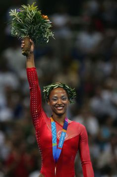 Evolution of Olympic Gymnastics Beauty Trends:  2004: Pastels and Metal Clips;  Pastel shadow was a staple, with Carly Patterson rocking a white shimmer and Annia Hatch a light blue throughout the competition.