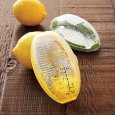 Sur La Table Grater Pods, to get that lemon zest without chopping off your fingers
