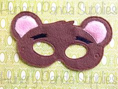 Papa Bear Mask Embroidery Design, goldilocks mask, machine embroidery, ITH mask, in the hoop mask, embroidered mask, 5x7, 6x10, goldilocks