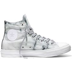 Converse Chuck Taylor All Star II Marble – white/black/white Sneakers ($85) ❤ liked on Polyvore featuring shoes, sneakers, white trainers, converse sneakers, star shoes, converse shoes and black white sneakers