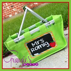 Perfect easy teachers gift. I filled it full of classroom supplies. They loved it! Customized Teacher's Chalkboard Market Tote - Teacher Appreciation Gift on Etsy, $22.00