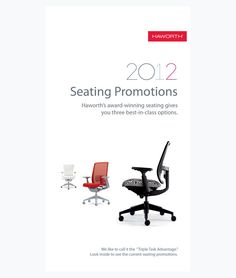 2012 Haworth Seating Promotions Brochure by Terry Sieting, via Behance