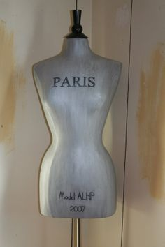 Dress Form Mannequin Your Color Your Word by thewhiterabbitstudio, $250.00