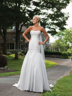 Strapless Sweetheart Bodice Mermaid Wedding Dress