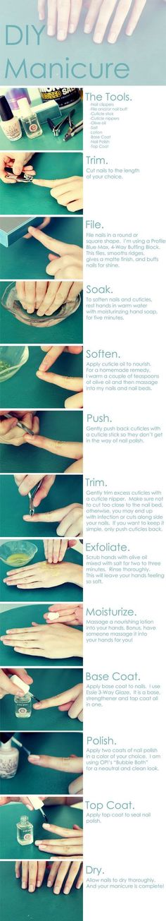 DIY HOW TO DO THE BEST MANI EVER HOPE IT HELPS YALL