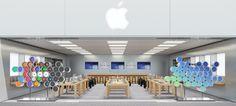 Apple Watch仕様の店内。