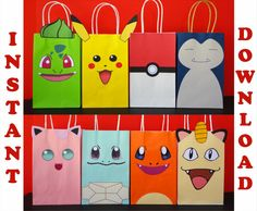 Check out this item in my Etsy shop https://www.etsy.com/listing/452488126/diy-printable-pokemon-favor-bags
