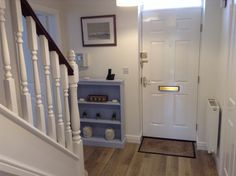 Floor by Kardean, walls in Dulux timeless endurance paint. Dulux Timeless, Dulux Paint, Small Hall, Stair Landing, Living Room Lounge, Room Makeovers, Paint Colours, Laura Ashley, Light Shades