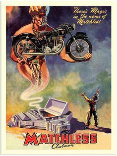 AP244 - Motorcycle Ad - Matchless (30x40cm Art Print)