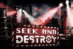 Seek and Destroy   Halloween Horror Nights Wiki   Fandom Revenge Show, Netflix Home, Seek And Destroy, Universal Studios Florida, Halloween Horror Nights, Orlando Resorts, Fright Night, Haunted Houses, Fandom
