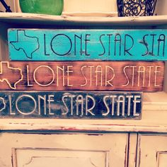 """TEXAS Lone Star State Home Decor! - Rustic Finish - (Natural, Sea Blue, Hammered Black) (Whitewood Material 20""""x 3.5""""x 1.5"""")"""