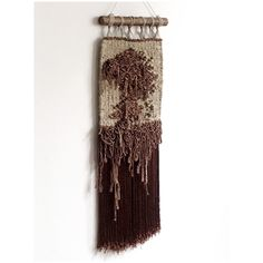 Handwoven piece of art with an abstract motive. Beautiful texture of this weaving makes it a woven sculpture and a statement piece on the wall. Weaving Wall Hanging, Tapestry Wall Hanging, Neutral Walls, Neutral Colors, Story Highlights, Beautiful Textures, Tapestry Weaving, Textile Art, Fiber Art