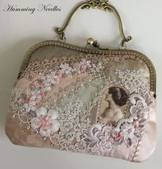 Crazy quilted evening purse