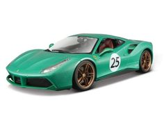 Bburago's stunning range of Ferrari die cast cars cover subjects old and new. Each model has been replicated in popular scales and features a factory painted metal body with multiple coloured plastic detailing parts