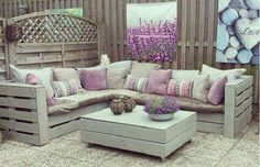 Möchtest du deinen Garten etwas verschönern? Vielleicht sind diese 12 Paletten Garten-Ideen wohl etwas für dich! - DIY Bastelideen