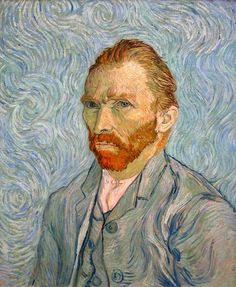 Van Gogh's self portrait, I cried a little staring at it.