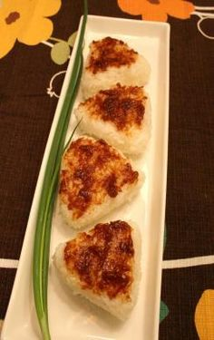 Japanese Food Yaki Onigiri (焼きおにぎり), Toasted Rice Balls with Sweet Miso