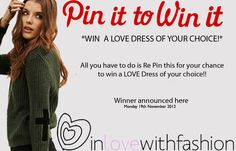 win a love dress of your choice!!