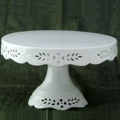 Plain White Openwork and embossed Porcelain 8″