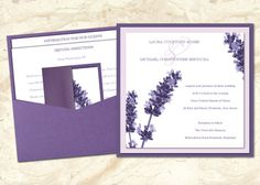 Lavender and Purple Wedding Invitations  Free US by CMSStationery, $5.00