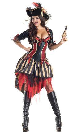 051aacbc7ada Halloween Sexy Pirates Costume Captain Jack Sparrow Women/'s Fancy Dress  Body Shaper Dress