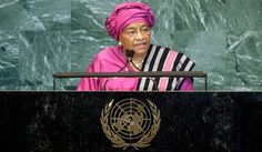Ellen Johnson Sirleaf is the 24th and current President of Liberia. She served as Minister of Finance under President William Tolbert from 1979 until the 1980 coup d'État, after which she left Liberia and held senior positions at various financial institutions. She placed second in the 1997 presidential election and elected President in the 2005. She took office on 16 January 2006 and re-elected in 2011. Sirleaf is the first and currently the only elected female head of state in Africa.