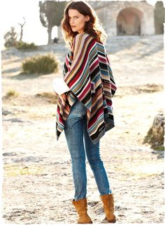 Bold geometrics and serape stripes pattern.