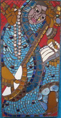 Saraswati  2012  63 x 30 cm © Caroline Jariwala   Created at Mango Mosaics
