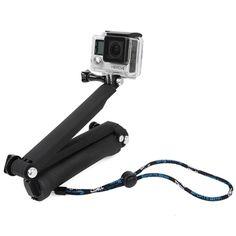 [$14.31] TMC 3-Way Handheld Monopod + Tripod + Hand Strap Portable Magic Mount Selfie Stick for GoPro HERO4 / 3+ / 3 / 2 / 1, SJ4000(Black)