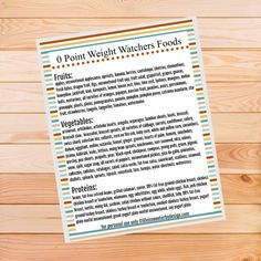 Here is a Weight Watchers zero point foods list free printable to help give you a visual reminder of the best food choices to make!